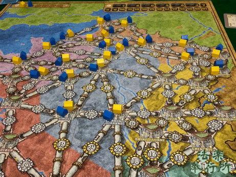 ボードゲーム 電力会社 拡張 フランス・イタリアマップ