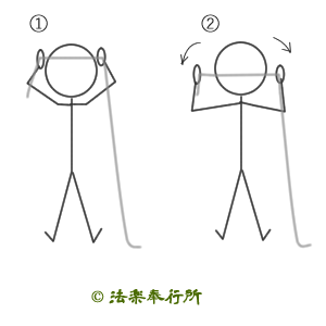 チューブトレーニング(肩甲骨あたり)